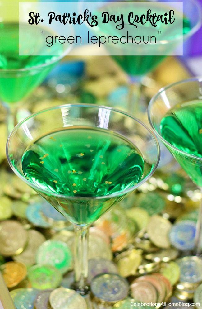 st patrick 39 s day cocktail green leprechaun recipe. Black Bedroom Furniture Sets. Home Design Ideas