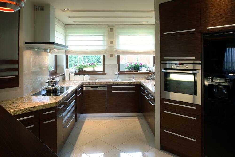 41 Luxury Ushaped Kitchen Designs & Layouts Photos  Ceiling Inspiration Dark Kitchens Designs Inspiration