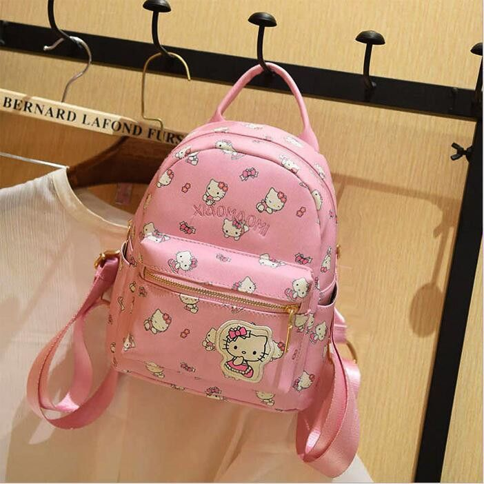 81259121b Hello Kitty Children School Bags For Girls Hello Kitty Girl School Bag  Waterproof Primary Backpack Kid Bag Lovely Baby Bag PU