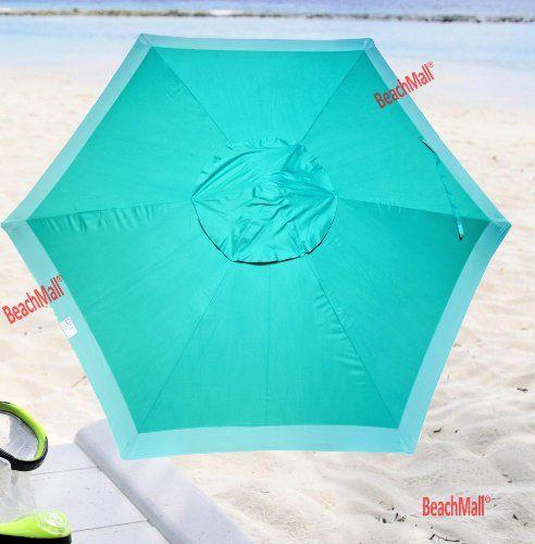 7 Ft Beach / Patio Umbrella By Rio   UPF 100+ Teal Color By Rio