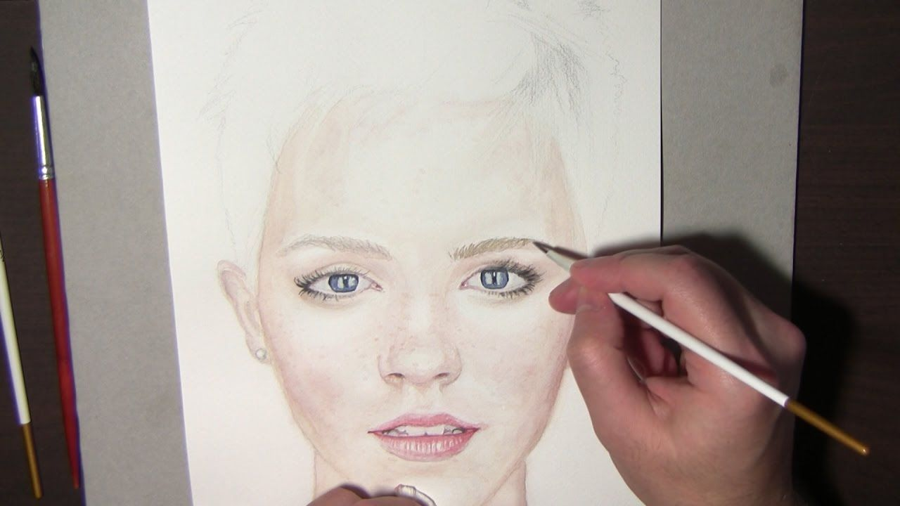 Watercolor Portrait Tutorial How To Steps And Tips Emma Watson