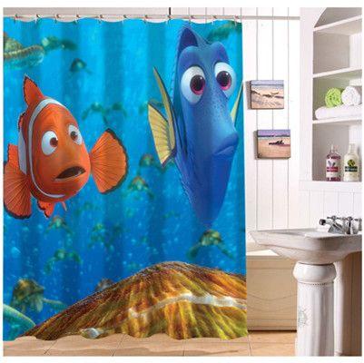YY612f 159 New Custom Finding Nemo 01 Cartoon Modern Shower Curtain Bathroom Waterproof LJ
