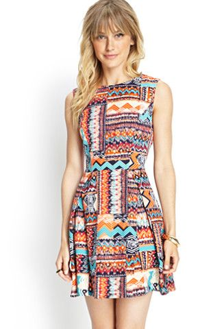 Tribal Print Woven Dress