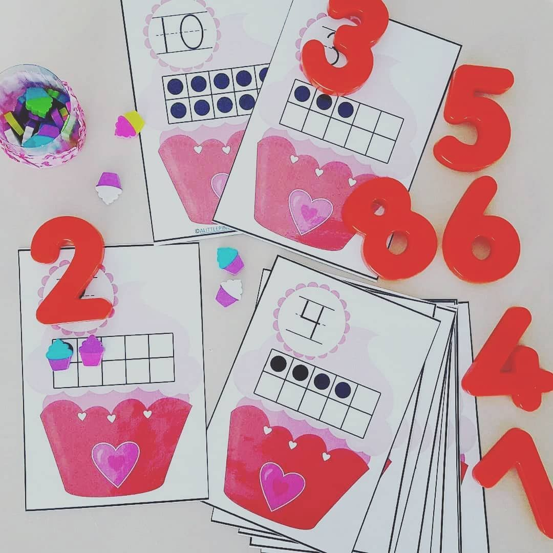 Time For All Things Valentine Cupcake Number Counting