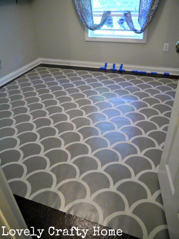 Painted Vinyl Floors Rug