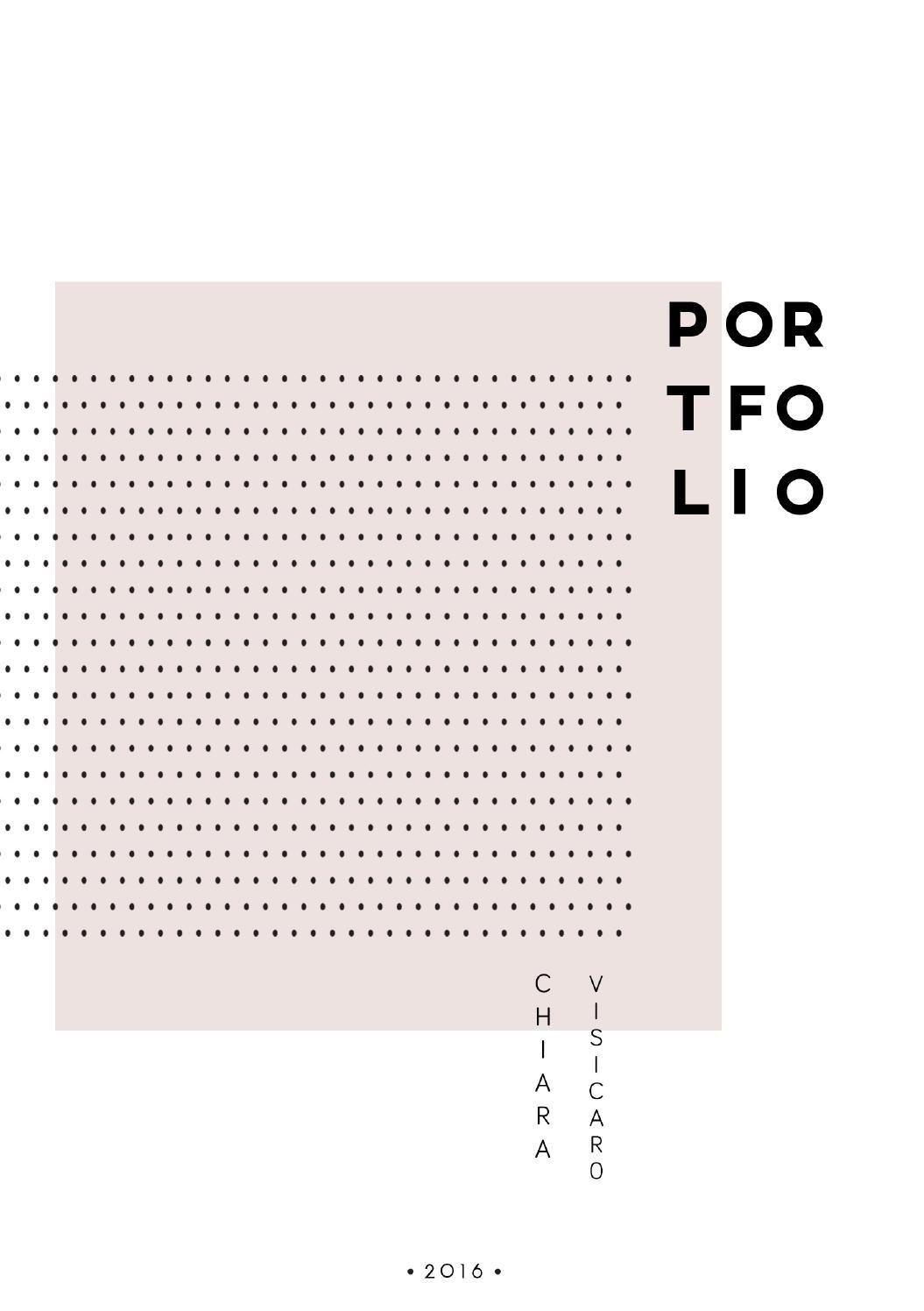 Chiara Visicaro   Architecture Portfolio 2016