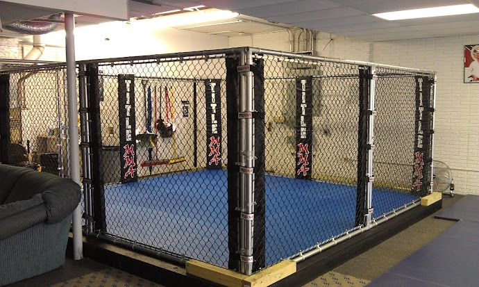 New 15x15 Mma Cage Boxing Ring At Bjj Lifestyle Academy Gym Design Mma Gym Indoor Sports Court