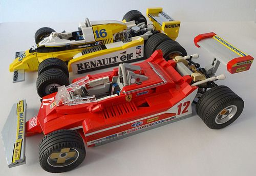 lego 1979 ferrari and renault formula 1 lego technic. Black Bedroom Furniture Sets. Home Design Ideas
