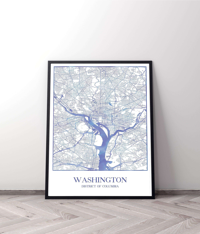 Washington Dc City Art Maps Travel Poster T In