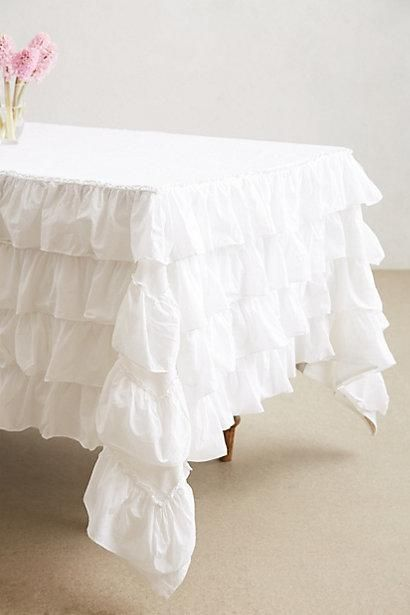 Petticoat Tablecloth From Anthropologie.