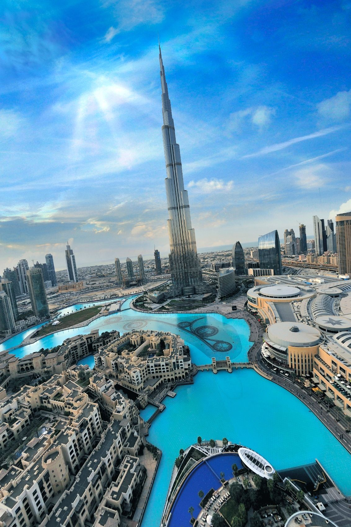 this is the tallest building in the world the Burj Khalifa