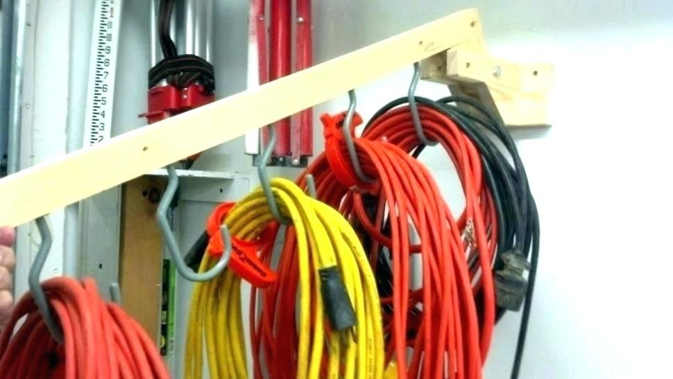 Diy Extension Cord Organizer Cord Storage Garage Storage Diy Storage