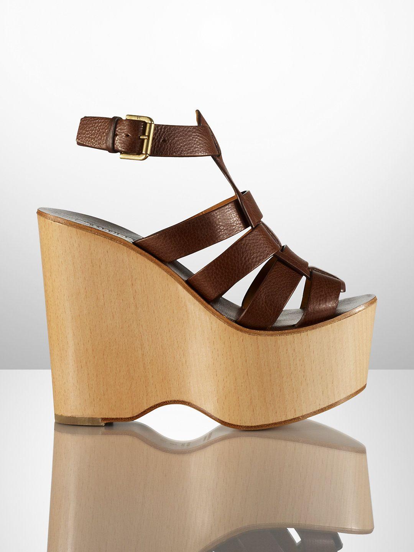 Errin Vachetta Platform Wedge - Collection Shoes   Shoes - RalphLauren.com-sale $199 reg $650