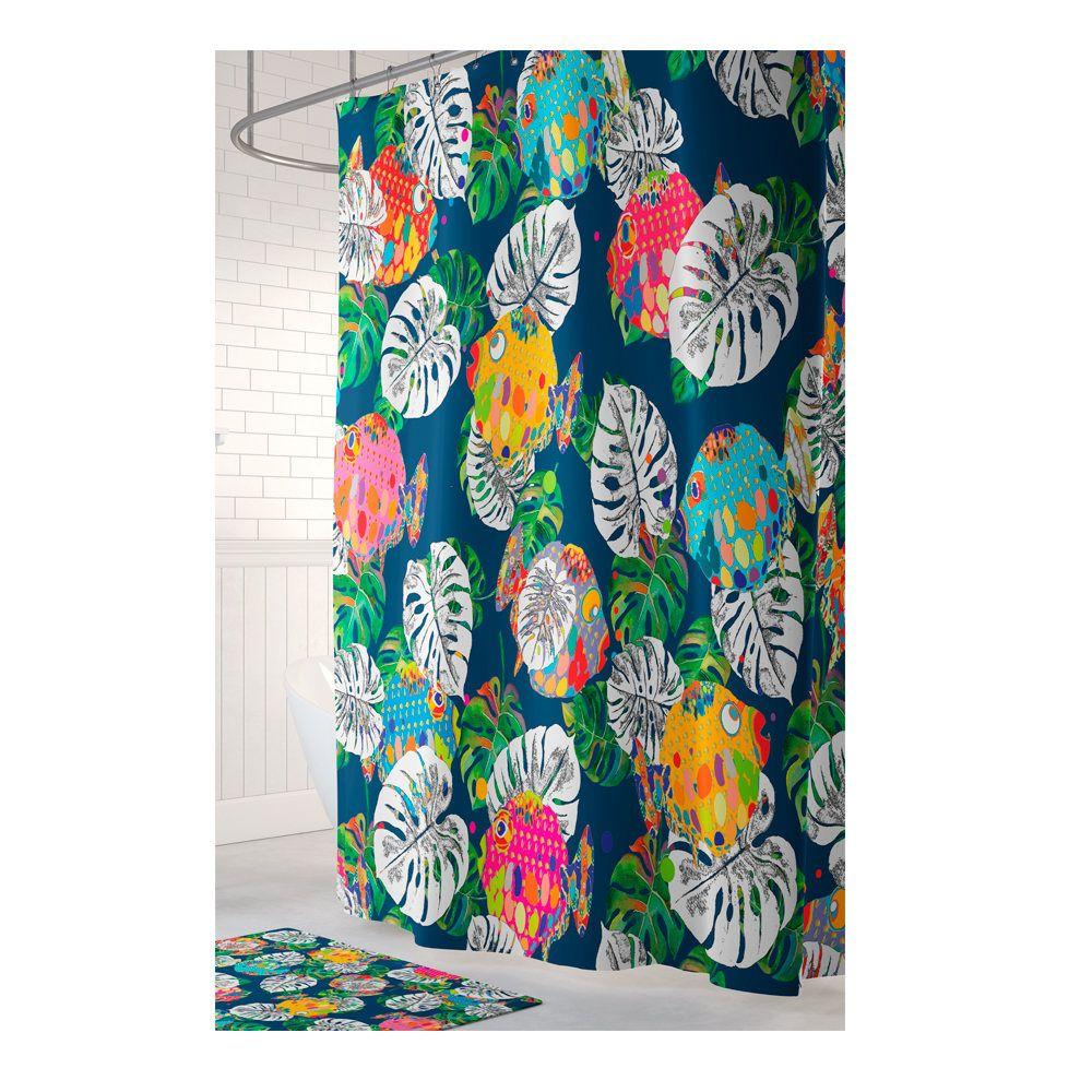 Tropical Shower Curtain Beach House Shower Curtains Fish Shower