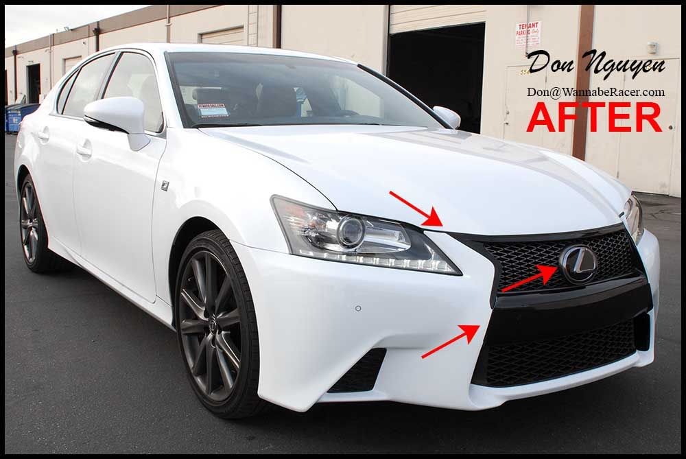 Lexus Gs350 F Sport Sedan Tinted Tail Lights Plasti