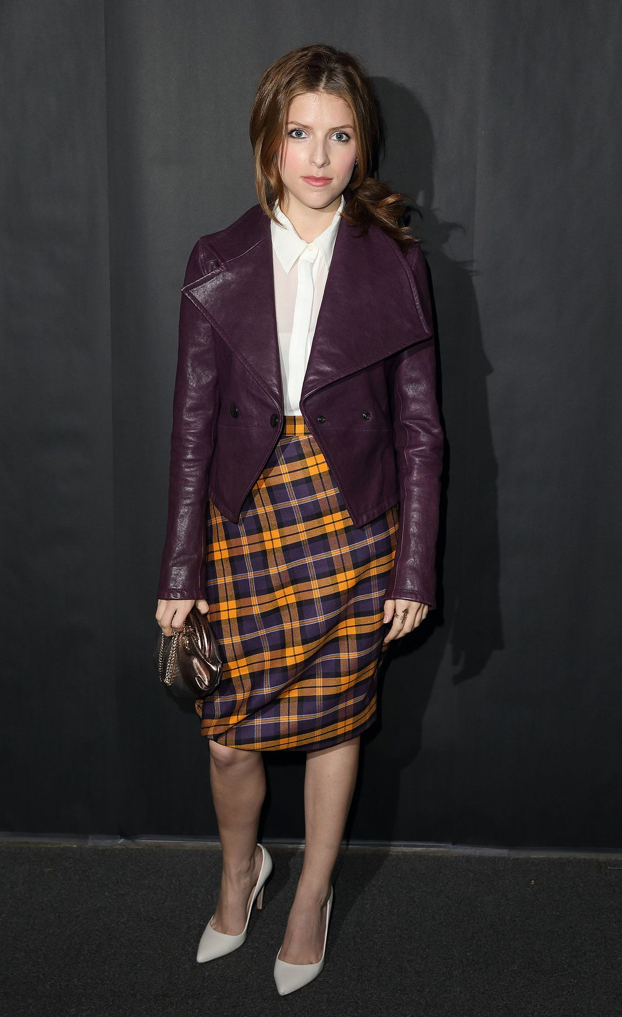Anna Kendrick does sophisticated plaid
