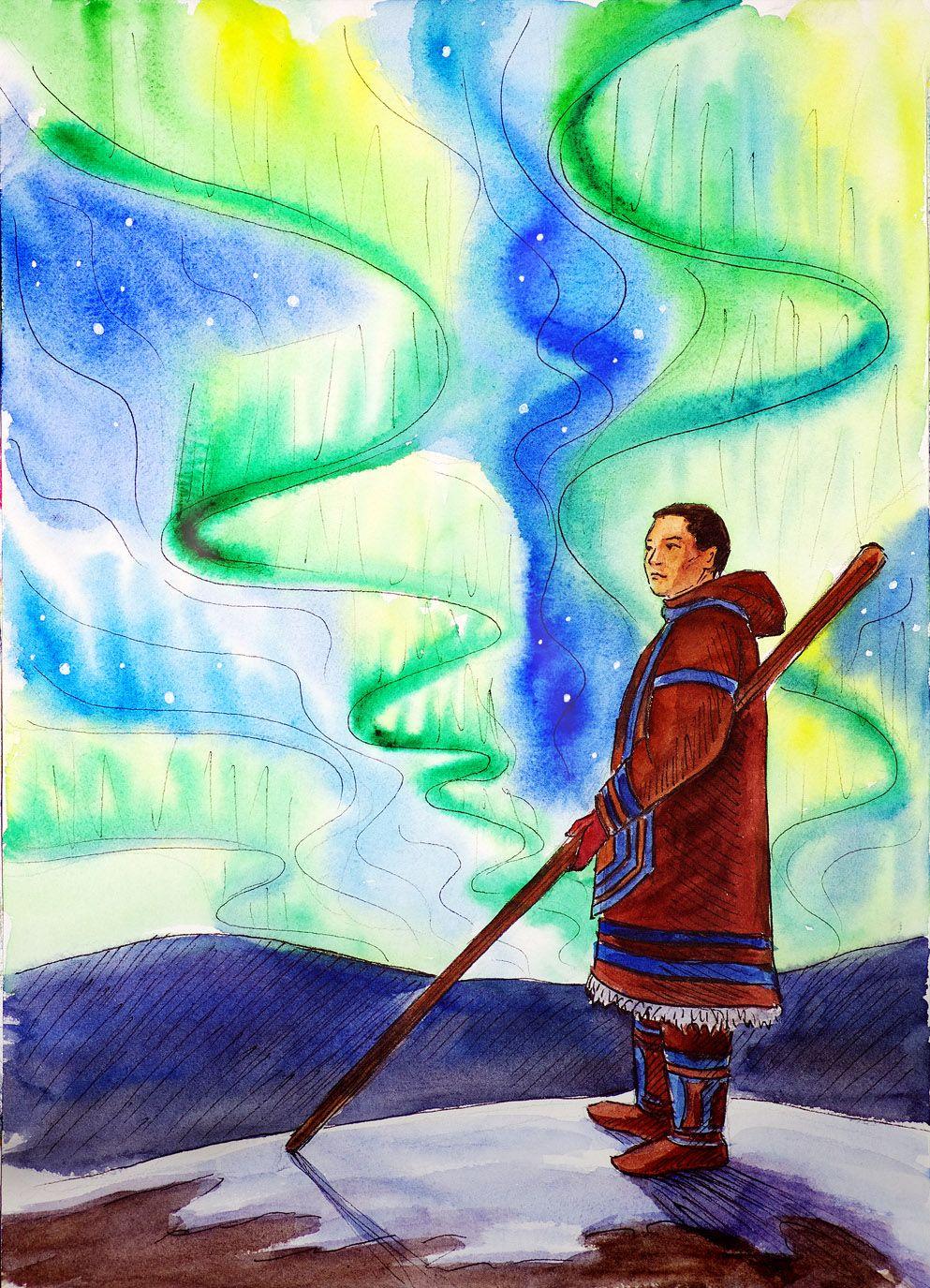 Рисунок на тему радуга югры