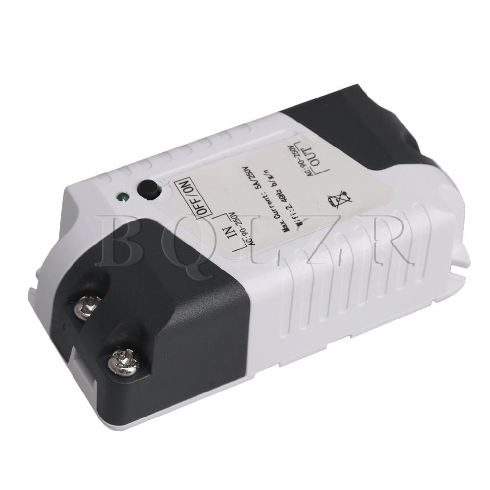 Bqlzr Plastic Wireless Intelligent Wifi Relay Switch Module Mini Ac Price Refitted Home Voice Control For Ios Android