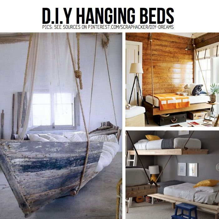 Charmant DIY Hanging Beds ... Boat Bed Is Perfect For A Seaside Themed Room