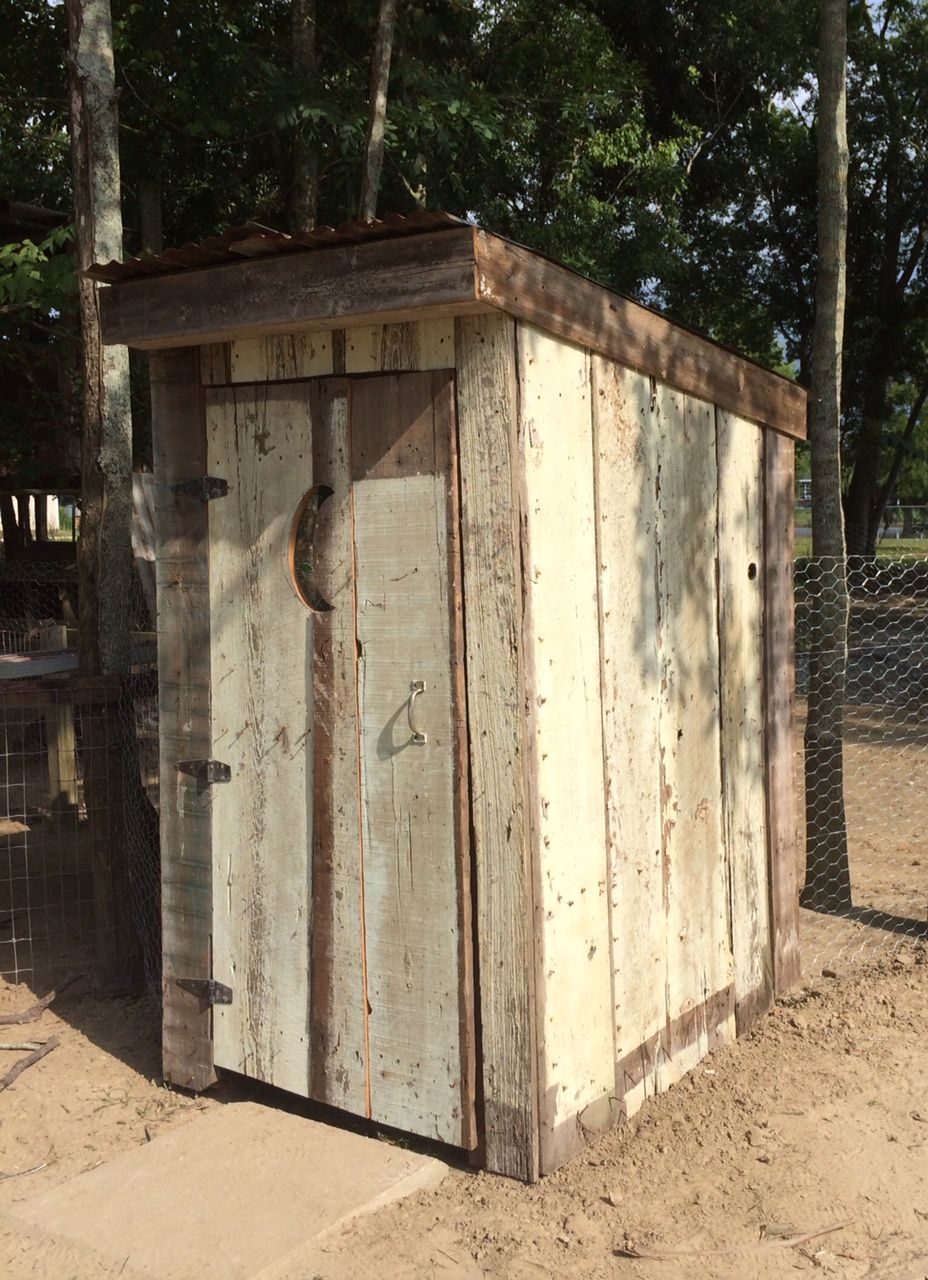 This is his latest addition to the farm...an outhouse entrance into the new turkey pen.