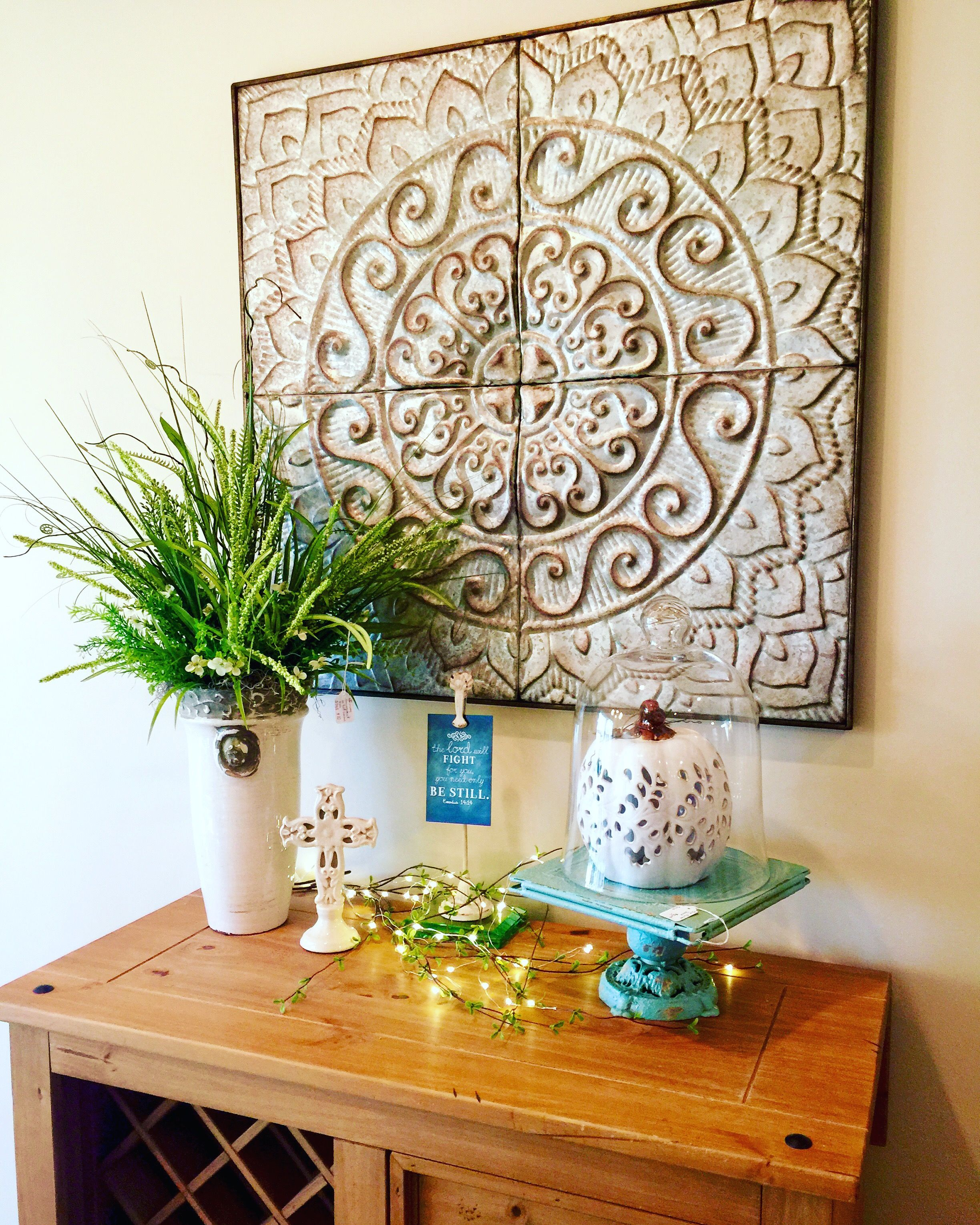 A wall in a Traditional Kitchen we decorated # ... on Traditional Kitchen Wall Decor  id=13777