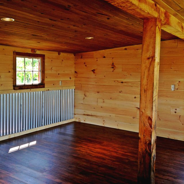 Car Siding In Bathroom As Accent Wall: Corrugated Metal Siding. I Saw This Idea In Texas And