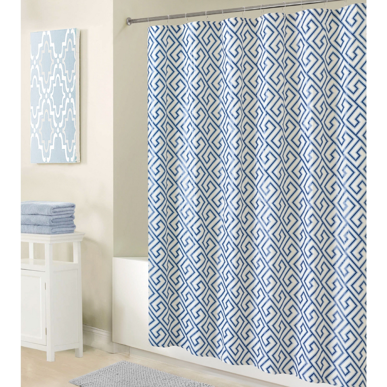 International Bath Bliss Greek Key Design Shower Liner in | Products ...