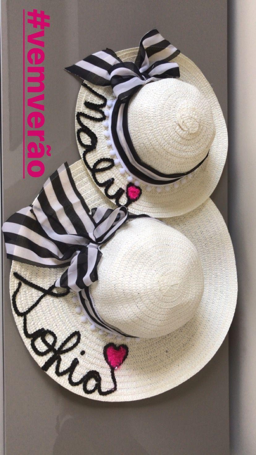 Chapéu de praia personalizado   Sandalias decoradas   Pinterest ... 031260aac6