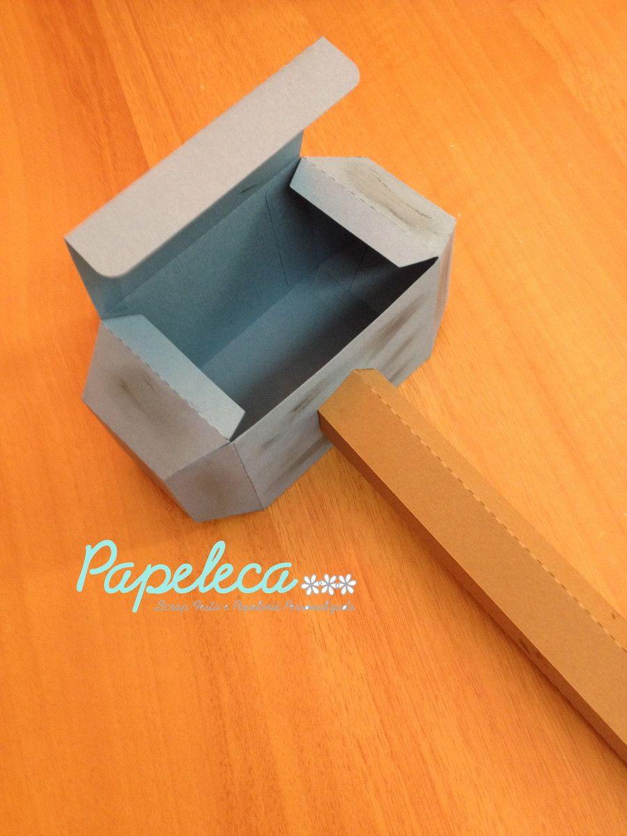 Caixa martelo Thor | Papeleca | Elo7