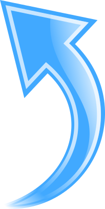 Arrow Curved Blue Up Curved Arrow Arrow Symbols
