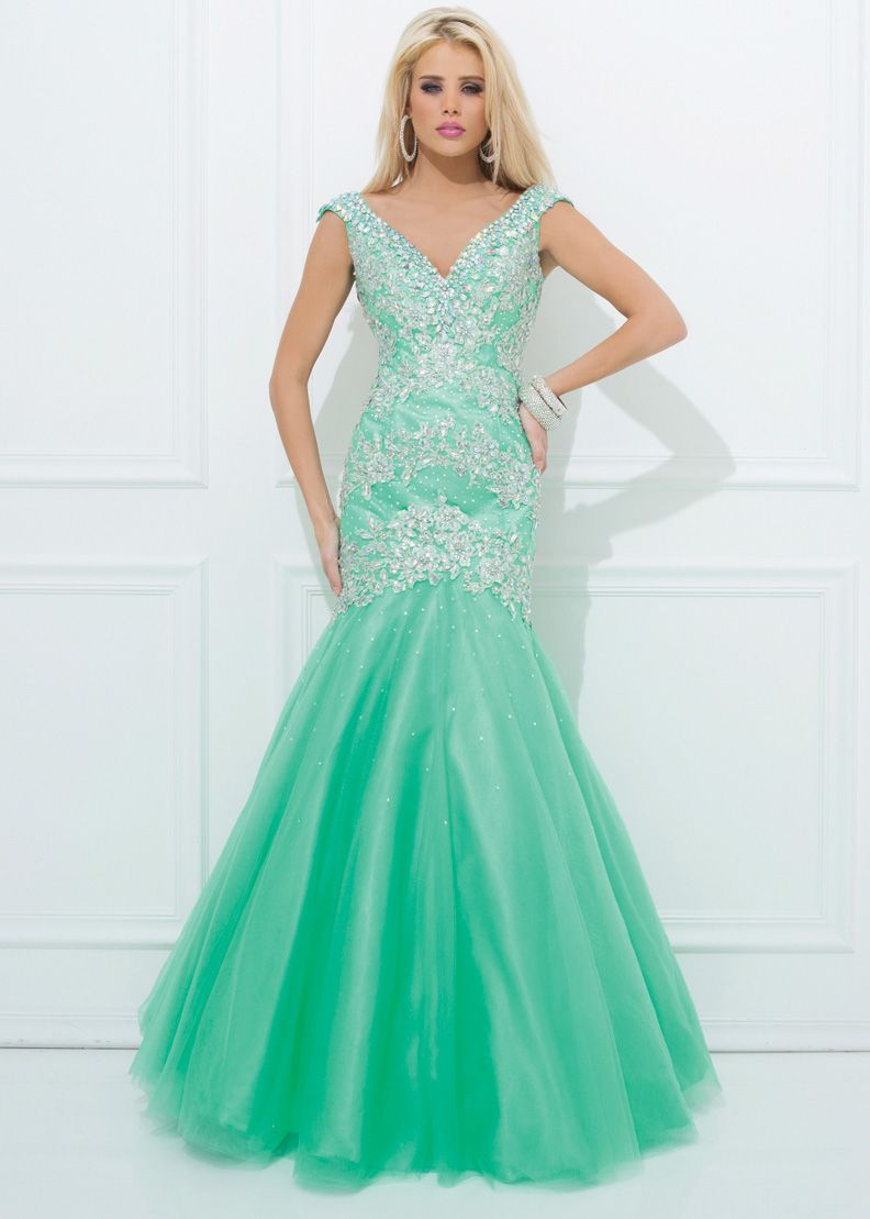 Mermaid Mint prom dress pictures