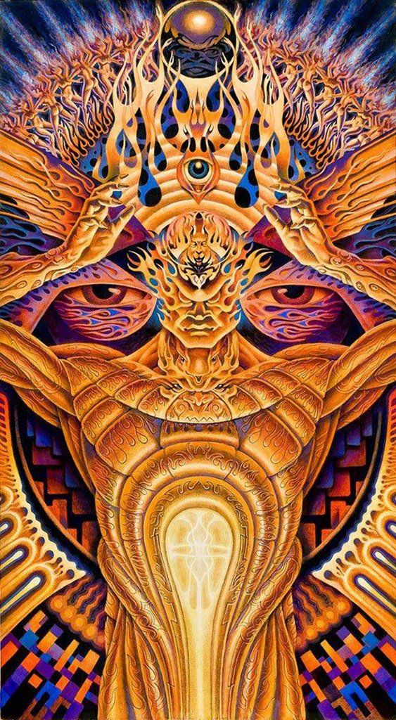 Psychedelic Trippy Art Poster Decor 4439 Online On Sale at