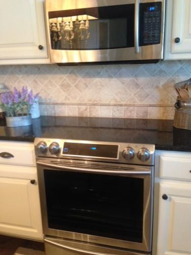 slidein double oven electric range with convection oven in stainless steel