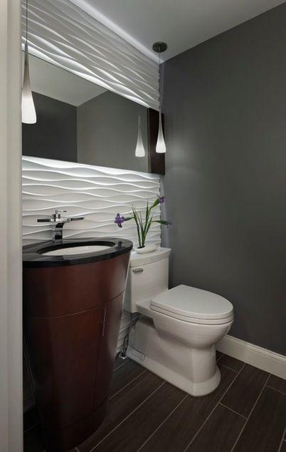 Wave Design Powder Room Tile Google Search Bathroom Design