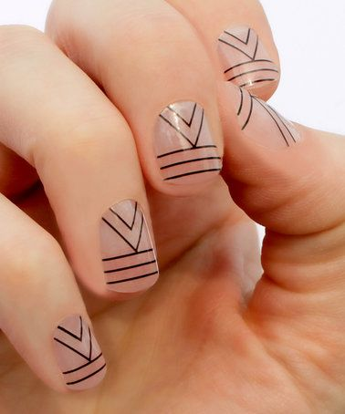 Loving this 24-Ct. Black Cali Nail Wraps - Set of Two on #zulily! #zulilyfinds
