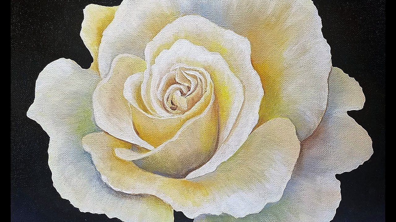 How to paint a rose acrylic painting tutorial on youtube by angela.