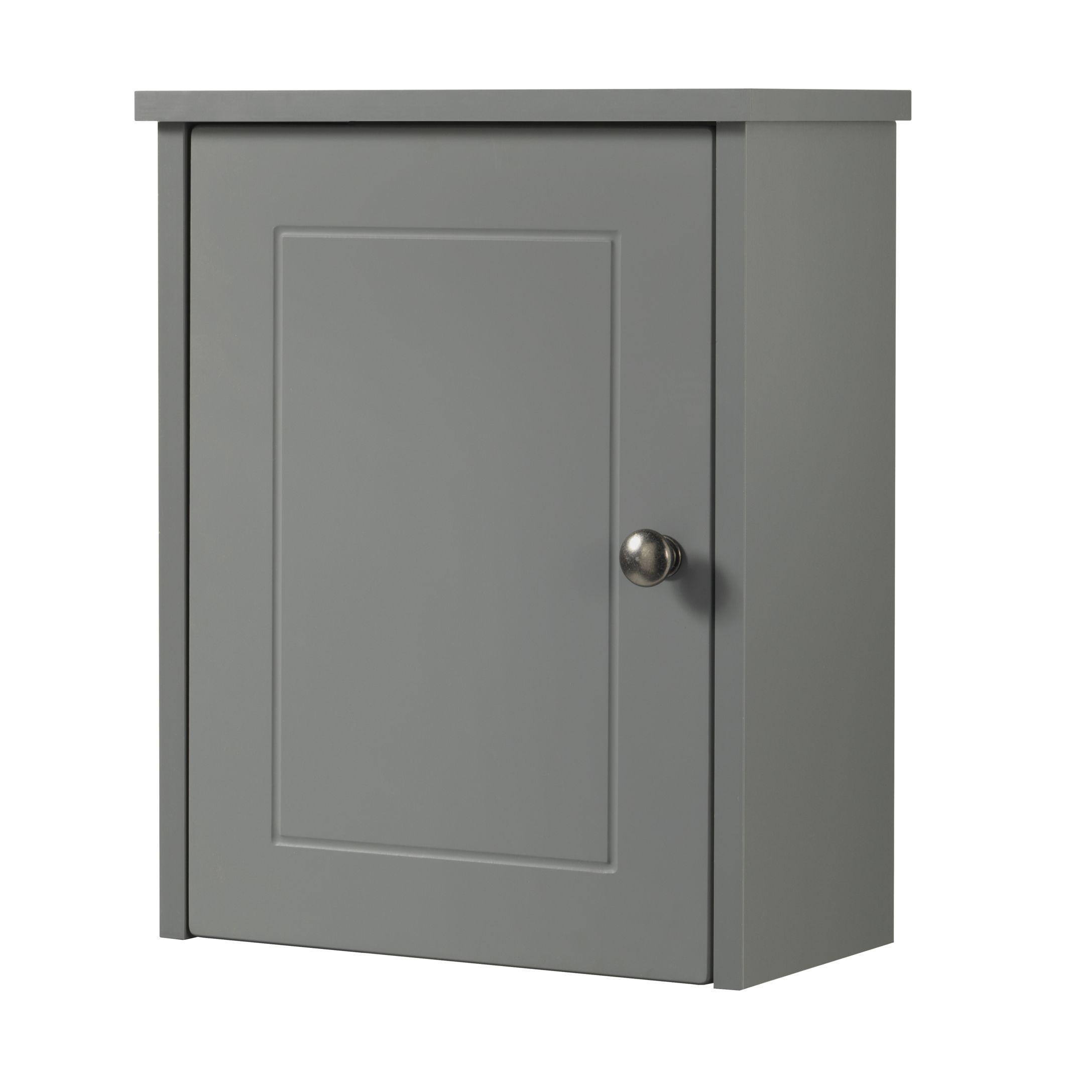 Cooke & Lewis Rhone Single Door Grey Matt Small Wall Cabinet