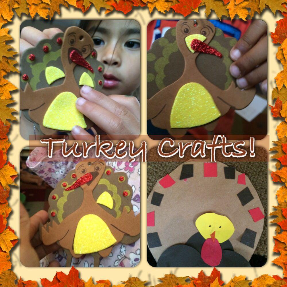 Thanksgiving Turkey Crafts #turkeycrafts