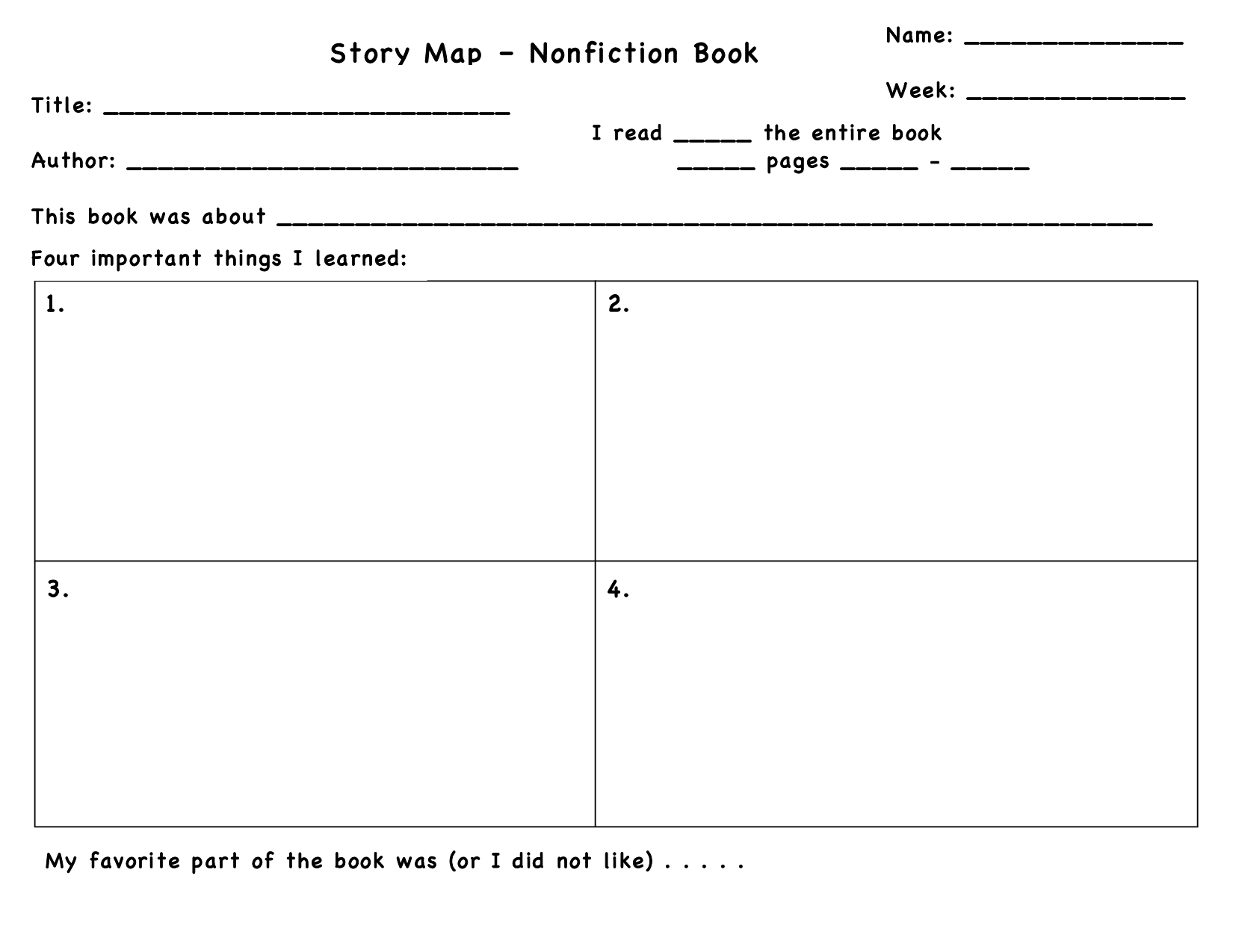 Graphic Organizers For Reading Comprehension In Non Fiction Text