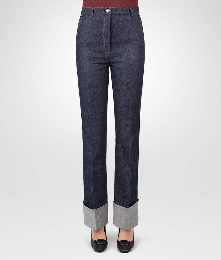 amazing selection entire collection detailed look Bottega Veneta DARK NAVY DENIM PANT | Relaxed Jeans