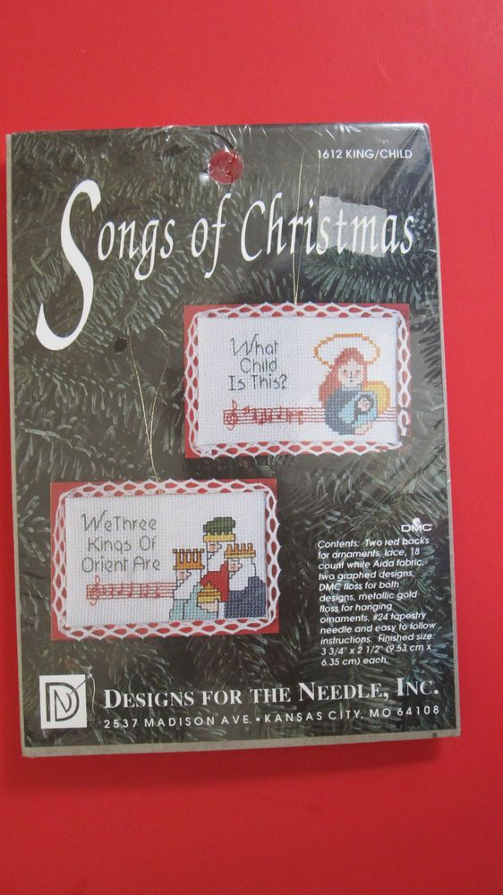 Songs Of Christmas Cross Stitch Kit 1612 King Child Makes 2