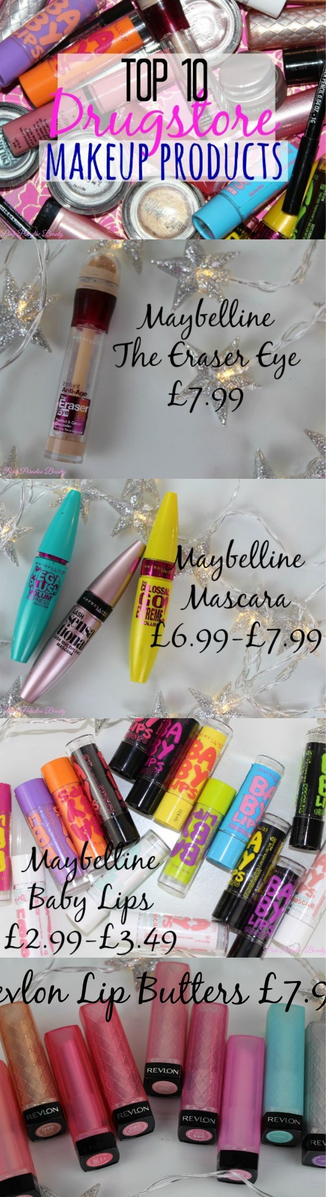 Top 10 Drugstore Makeup Products featuring Maybelline and