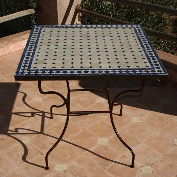 Table Mosaique Rectangulaire Nouveau Table Jardin Zellige ...