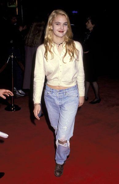 Drew Barrymore's 90's styles