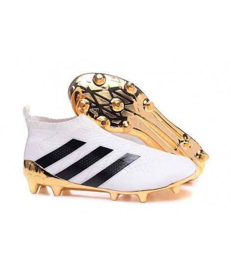 lowest price 75ad4 12fd2 Adidas ACE 16 Purecontrol FGAG TIL FAST UNDERLAG GRESS KUNSTGRESShvit Svart  Gull Fotballsko