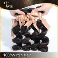 Natural Black Color Loose Wave 6A Brazilian Virgin Hair 3 pcs per Lot Human Hair Extension