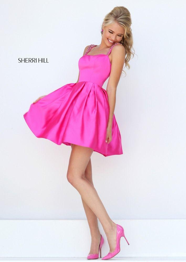 SHERRI HILL 50323 | Vestidos Fucsia Corto | Pinterest | Graduación ...