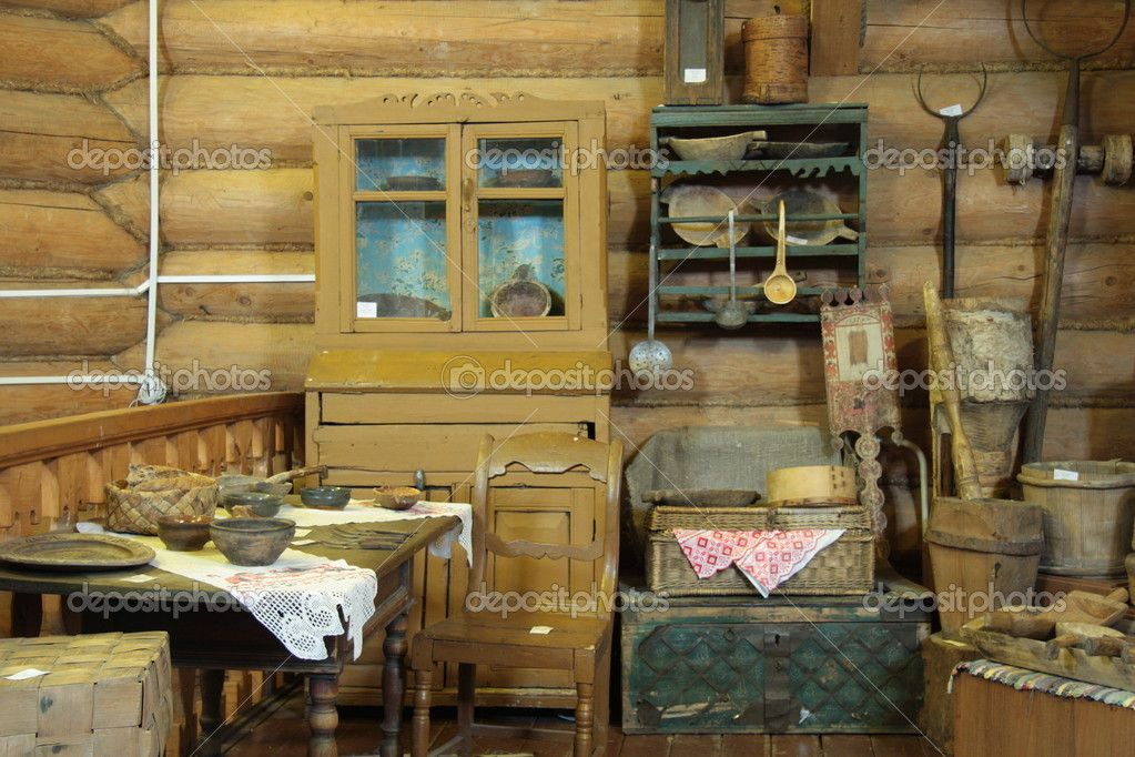 Old Wooden House Interior   Stock Image: 10551727