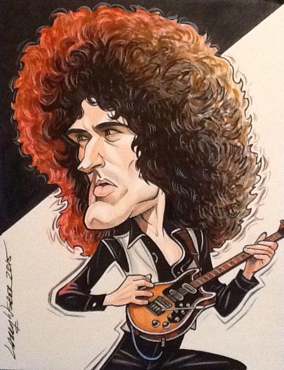 Resultado de imagen para Brian May en caricatura