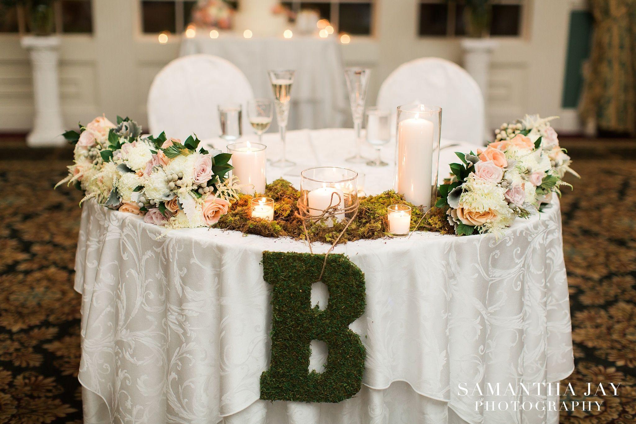 Emerald wedding decor ideas  Gorgeous sweetheart table Photo credit Samantha Jay Photography